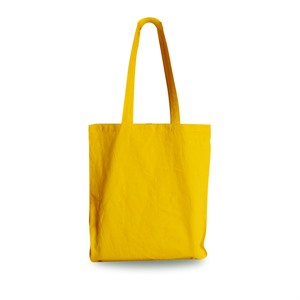 Yellow Coloured Cotton Shopping Carrier Bags