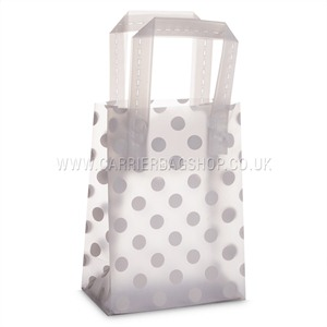 Frosted Dots Print Plastic Carrier Bags