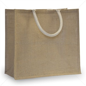Natural Jute Bags with Luxury Padded Handles Medium