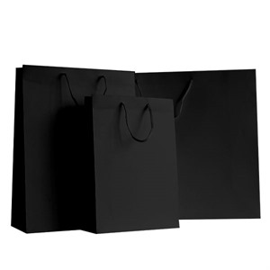 Black Matt Boutique Paper Bags