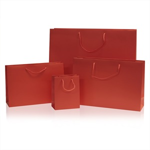 Red Matt Boutique Paper Bags