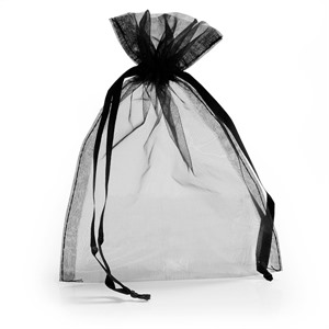Black Organza Bags with Drawstring