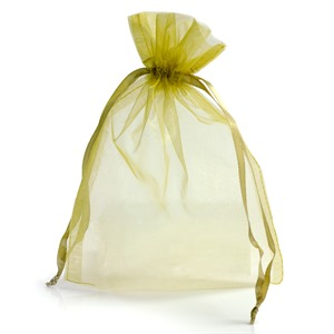 Gold Organza Bags with Drawstring