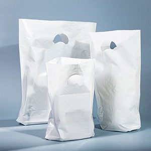 White Premium Degradable Plastic Carrier Bags