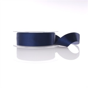 Navy Double Satin Ribbon 15mm x 20m [13]