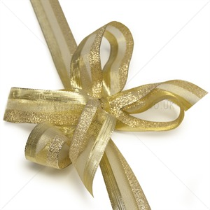 Gold Sheer Glitz Ribbon