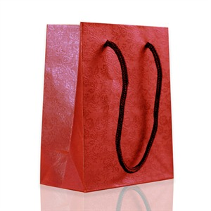 Rope Handled Gift Bags Red