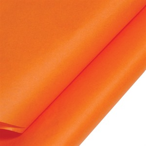 Orange Coloured Standard Tissue Paper