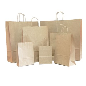 Brown Paper Carrier Bags with Twisted Handles