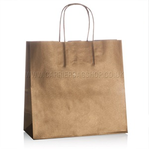 Italian Pearlescent Gold Paper Carrier Bags with Twisted Handles