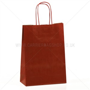Italian Scarlet Red Paper Carrier Bags with Twisted Handles