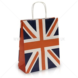 Union Jack Design Paper Carrier Bags with Twisted Handles