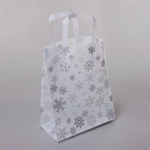 Frosted Snowflake Plastic Carrier Bags