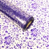 Patterned Florist Film Wrap Purple