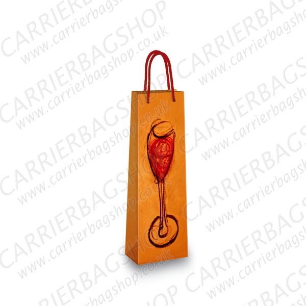 Orange Ombra Wine Design Bottle Bags Carrier Bag Shop