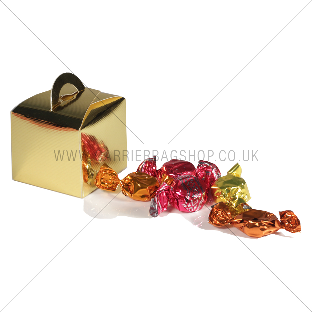 Mini Gift Boxes Gold Gift Packaging Carrier Bag Shop