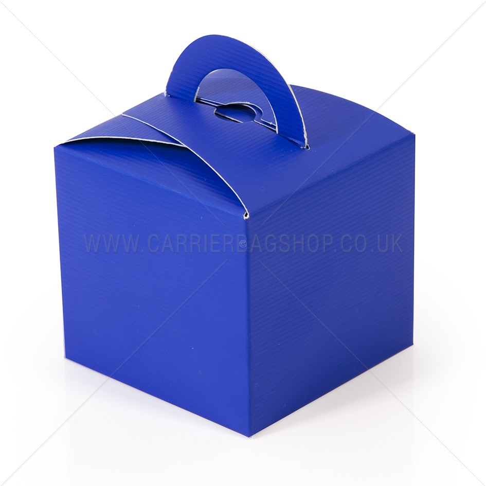 Mini Gift Boxes Royal Blue Gift Packaging Carrier Bag Shop