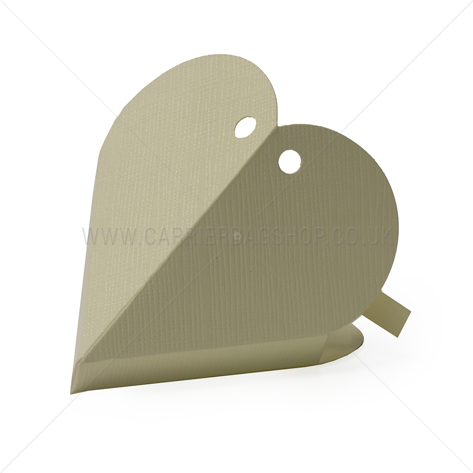 Ivory Silk Heart Shaped Gift Box Gift Packaging Carrier