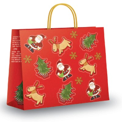 Christmas Cut Out Design Bags Paper Carrier Bags
