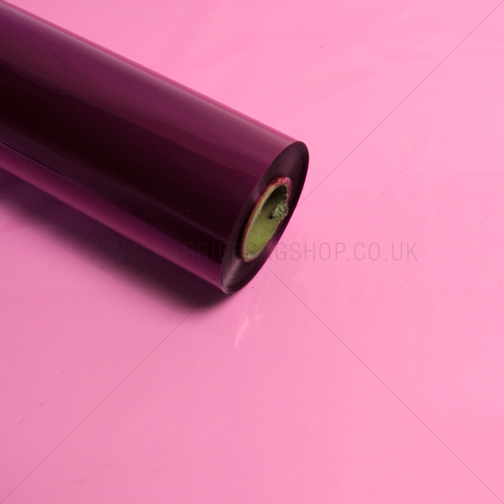 Pink Cellophane Florist Roll From Carrier Bag Shop