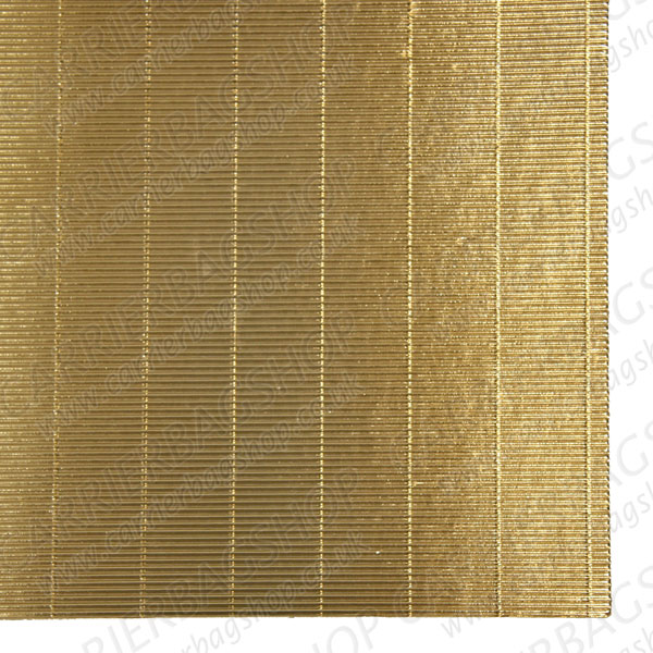 Gold Straight Corrugated Card Craft Items Carrier Bag Shop