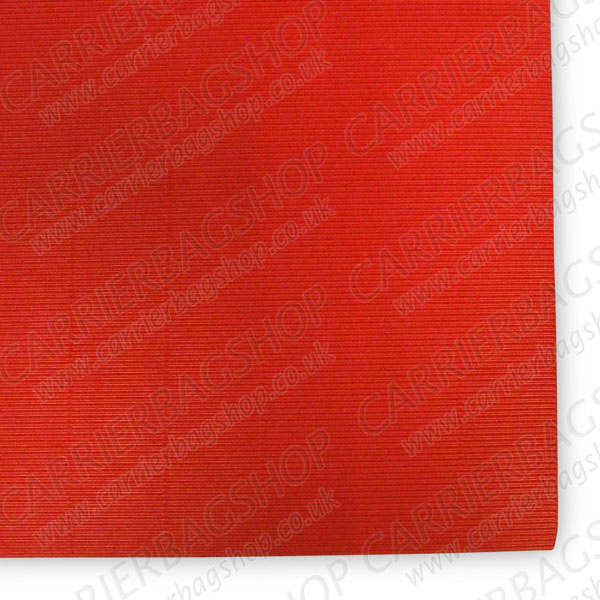 Red Straight Corrugated Card Craft Items Carrier Bag Shop