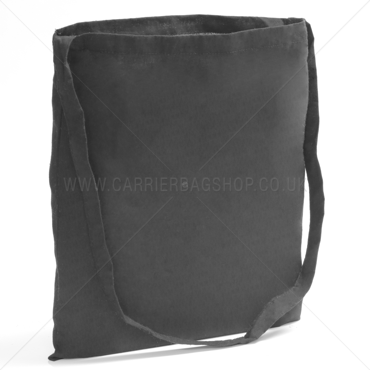 Black Coloured Cotton Sling Tote Bag From Carrier Bag Shop