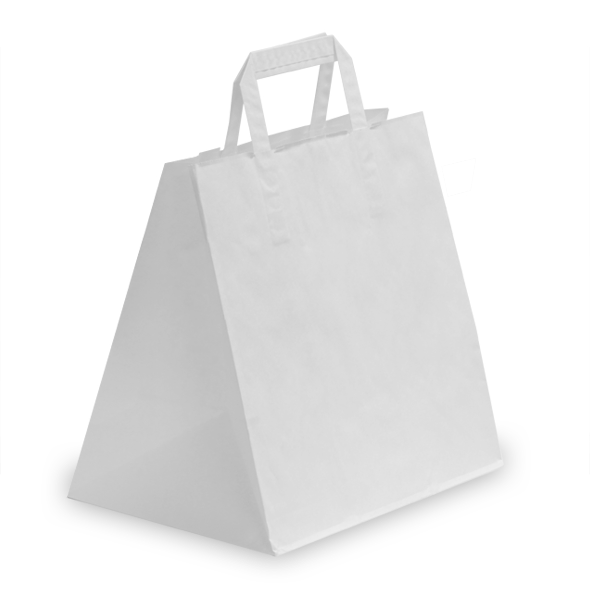 White Patisserie Bags With Flat Handles Carrier Bag Shop