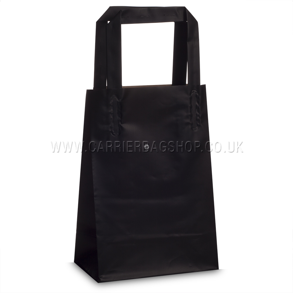 Premium Frosted Black Plastic Gift Bags