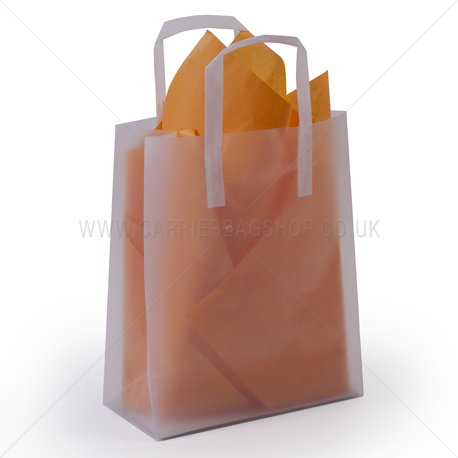 Premium Frosted Plain Plastic Gift Bags