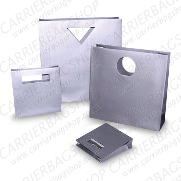 Silver Designer Gift Bags From Carrier Bag Shop Supplier