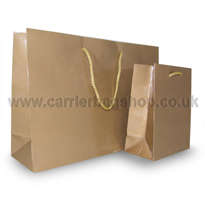 Gold Gloss Recycled Recycled Paper Bags From Carrier Bag