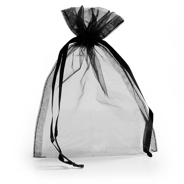 Black Organza Bags With Drawstring Favour Bags Carrier