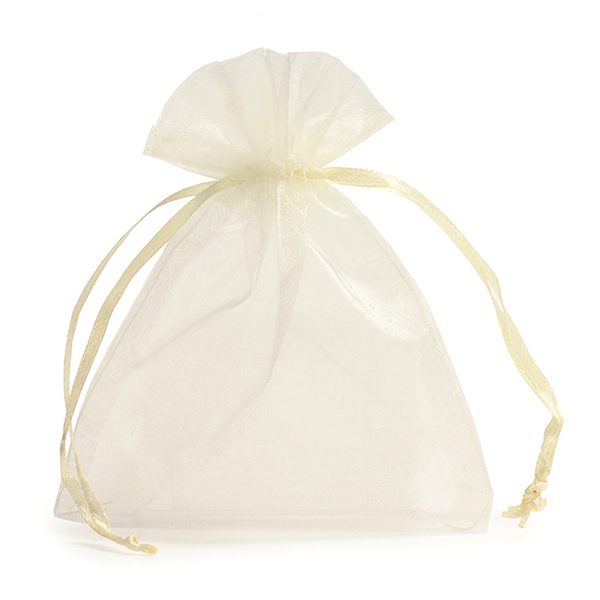 ivory organza bags with drawstring favour bags carrier