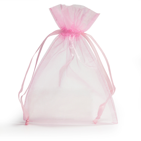 light pink organza bags with drawstring carrier bag shop