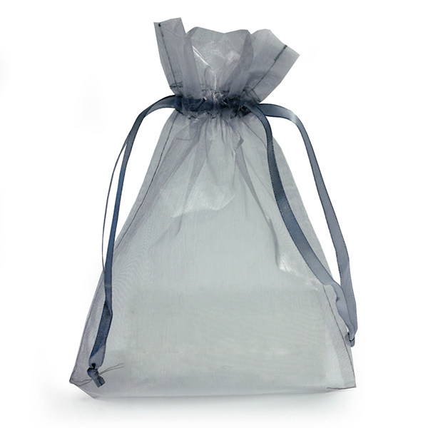 silver organza bags with drawstring favour bags carrier