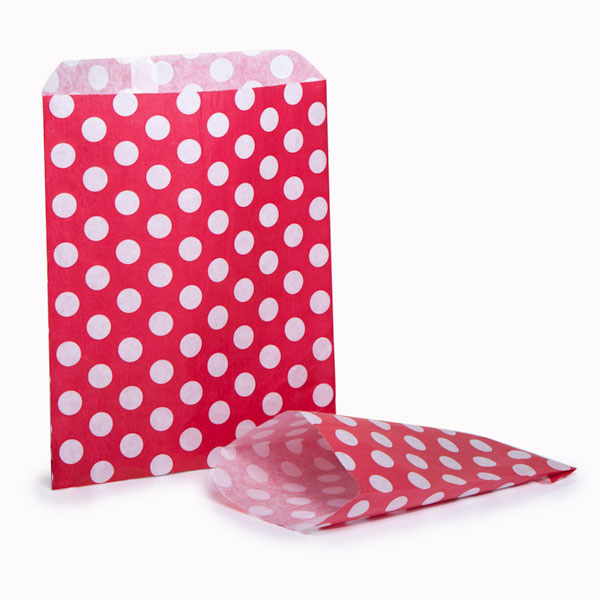 Red Polka Dot Paper Bags From Carrier Bag Shop