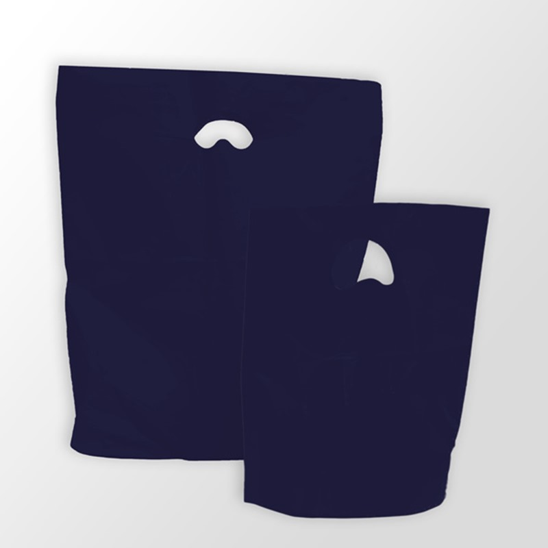 Navy Blue Premium Degradable Plastic Carrier Bags
