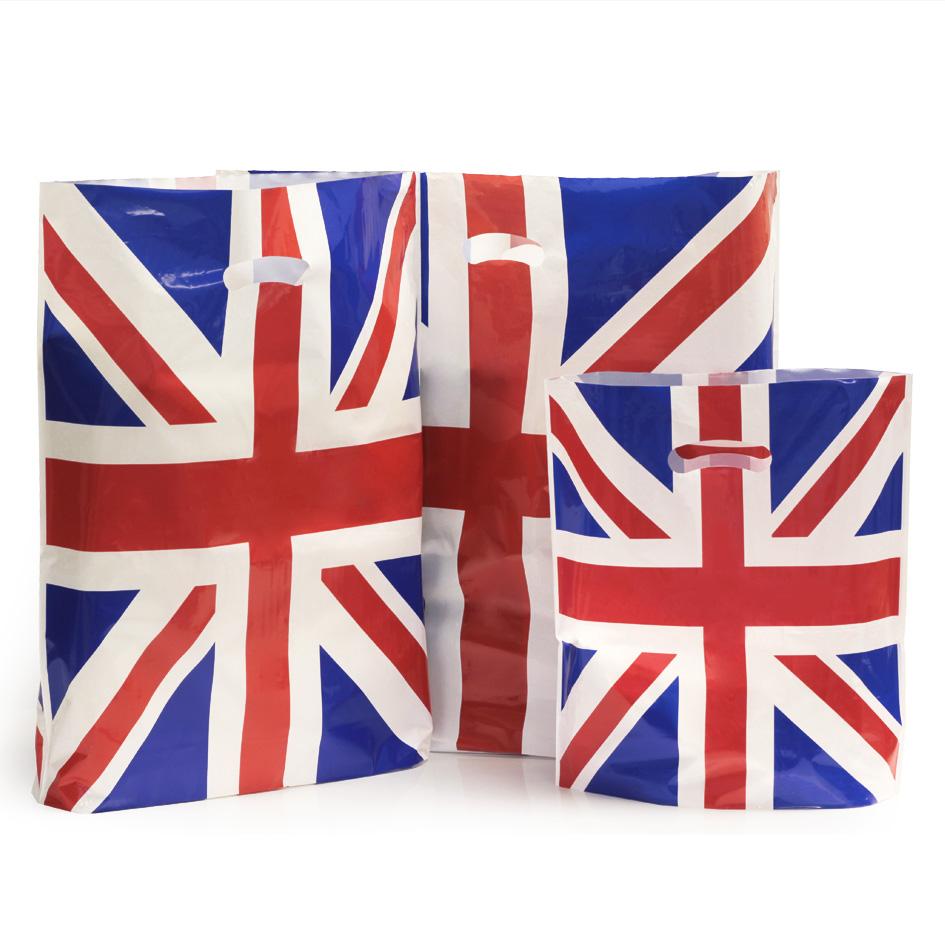 Union Jack Plastic Carrier Bags Carrier Bag Shop