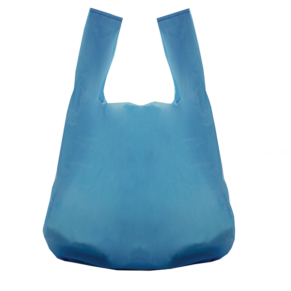 Recycled Blue Vest Style Plastic Carrier Bags