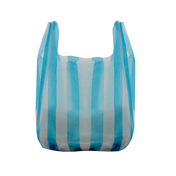 Striped Vest Style Carrier Bags Branded Bags Carrier