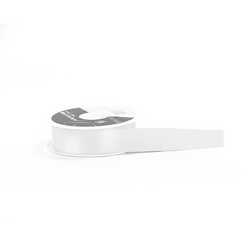 White Double Satin Ribbons Elegant Ribbons Carrier Bag