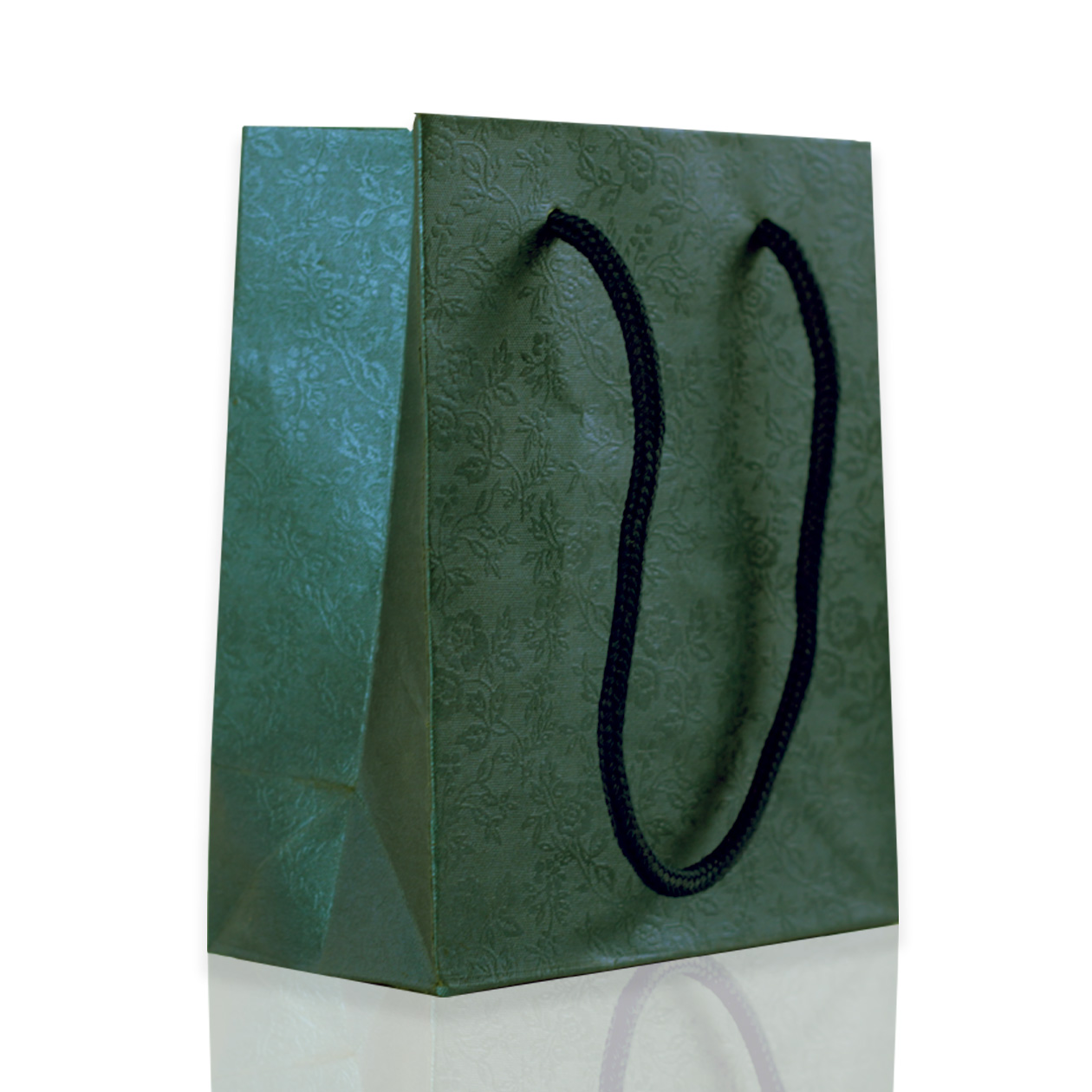 dark green rope gift bags