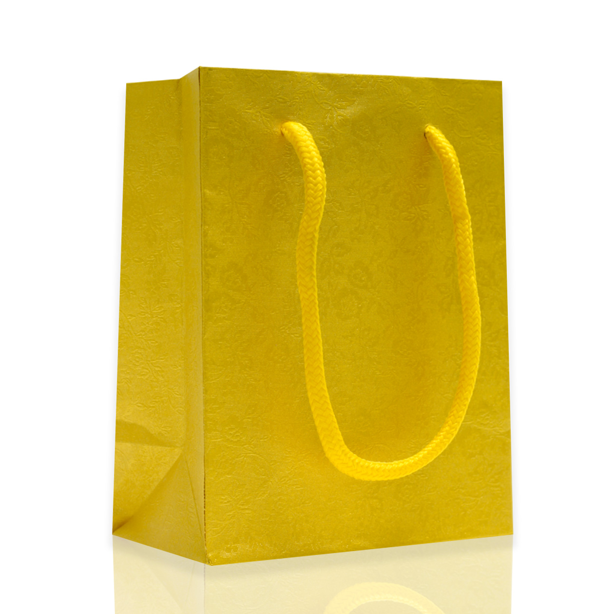 Paper bag yellow - Rope Handled Gift Bags Yellow