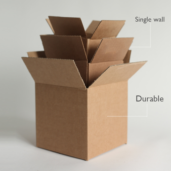 Single Wall Cardboard Boxes Shipping Cartons Carrier