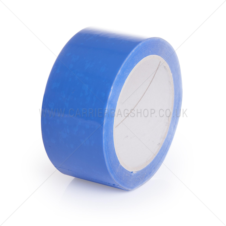 Blue pp packing tape vinyl carrier bag shop