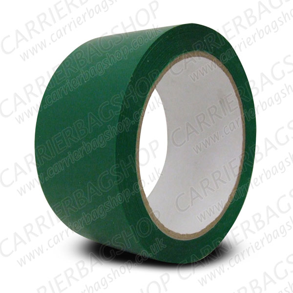 Green pvc packing tape retail packaging carrier bag shop
