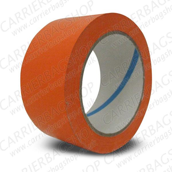 Orange pvc packing tape vinyl carrier bag shop