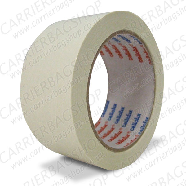 White pvc packing tape from carrier bag shop supplier of