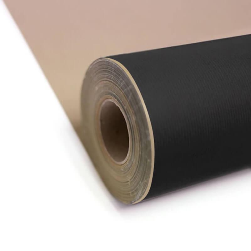 Black Kraft Roll Wrap Carrier Bag Shop
